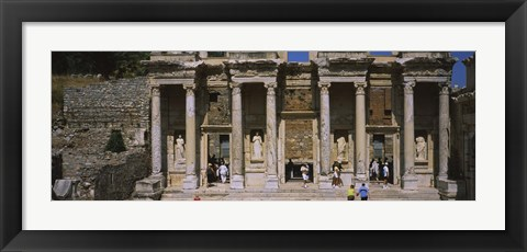 Framed Old ruins of Library At Epheses, Ephesus, Turkey Print