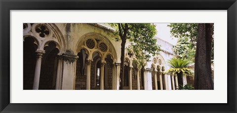 Framed Trees in front of a monastery, Dominican Monastery, Dubrovnik, Croatia Print