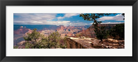 Framed Rock formations in a national park, Mather Point, Grand Canyon National Park, Arizona, USA Print