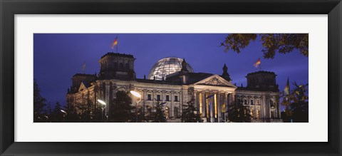 Framed Facade of a building at dusk, The Reichstag, Berlin, Germany Print