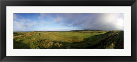 Framed Golf course on a landscape, Royal Troon Golf Club, Troon, South Ayrshire, Scotland Print