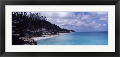 Framed Clouds over the sea, Bermuda Print