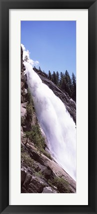 Framed Low angle view of a waterfall, Nevada Fall, Yosemite National Park, California, USA Print