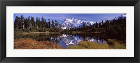 Framed Mt Shuksan, Picture Lake, North Cascades National Park, Washington State, USA Print
