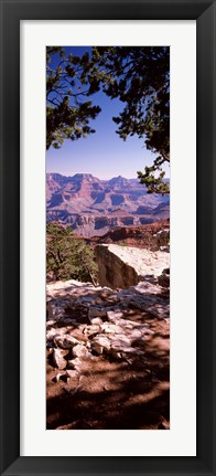Framed Rock formations, Mather Point, South Rim, Grand Canyon National Park, Arizona, USA Print
