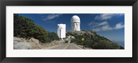 Framed Road leading to observatory, Kitt Peak National Observatory, Arizona, USA Print