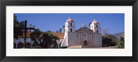 Framed Facade of a mission, Mission Santa Barbara, Santa Barbara, California, USA Print
