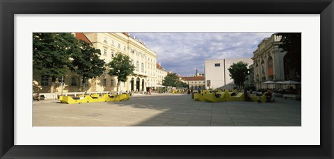 Framed Buildings in a city, Museumsquartier, Vienna, Austria Print