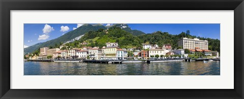 Framed Town at the waterfront, Tremezzo, Lake Como, Como, Lombardy, Italy Print