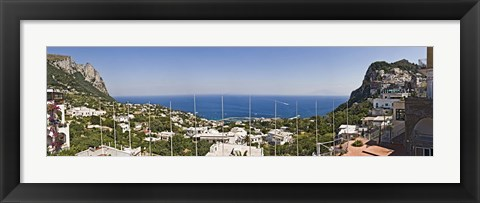 Framed Town at the waterfront, Marina Grande, Capri, Campania, Italy Print