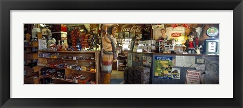 Framed Route 66 Store Interior, Hackberry, Arizona Print