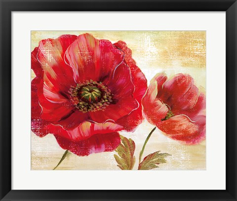Framed Passion for Poppies I Print