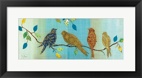 Framed Bird Chat I Print