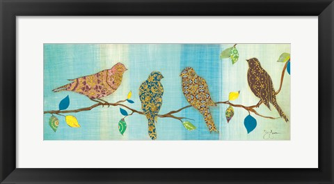 Framed Bird Chat II Print