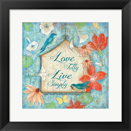 Framed Love Fully Print