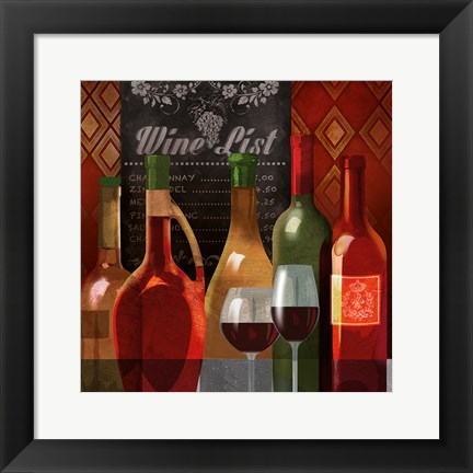 Framed Wine List II Print