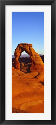 Framed Natural arch in a desert, Arches National Park, Utah Print