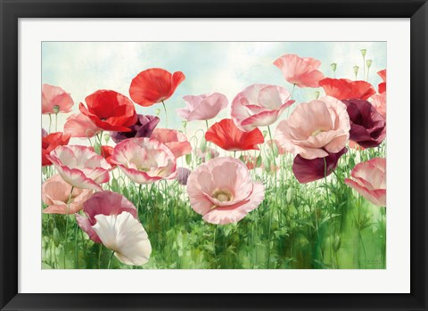 Framed Poppies Pleasure Print