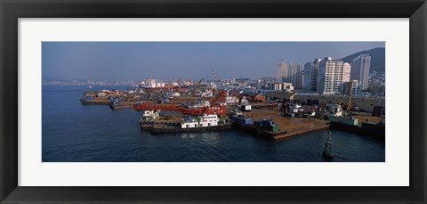 Framed Buildings at the waterfront, Busan, South Korea Print