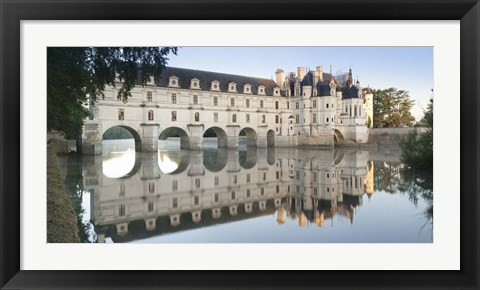 Framed Chateau De Chenonceau, Indre-Et-Loire, Loire Valley, Loire River, Region Centre, France Print