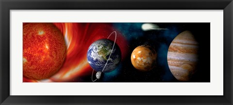 Framed Sun and planets Print