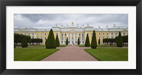 Framed Facade of a palace, Peterhof Grand Palace, St. Petersburg, Russia Print