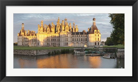 Framed Castle at the waterfront, Chateau Royal de Chambord, Chambord, Loire-Et-Cher, Loire Valley, Loire River, Centre Region, France Print