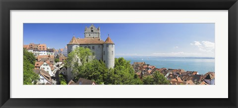 Framed Castle on a hill, Meersburg Castle, Lake Constance, Baden-Wurttemberg, Germany Print