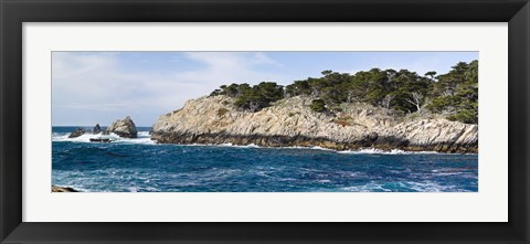 Framed Coastline, Point Lobos State Reserve, Carmel, Monterey County, California Print