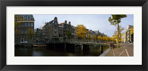 Framed Bridge Over a Canal, Amsterdam, Netherlands Print