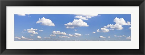 Framed Cumulus clouds in the sky, Baden Wurttemberg, Germany Print