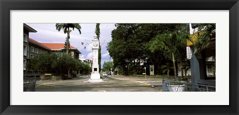 Framed Clock tower in a city, Victoria, Mahe Island, Seychelles Print
