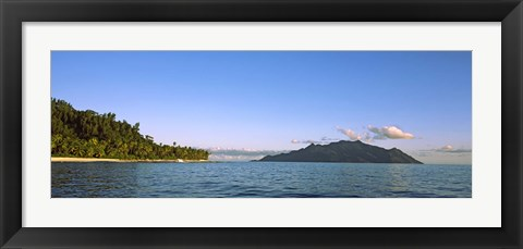 Framed Islands in an ocean, North Island, Silhouette Island, Seychelles Print