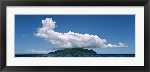 Framed Clouds over Silhouette Island, Seychelles Print