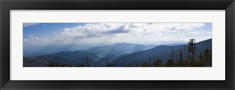Framed Clouds over mountains, Great Smoky Mountains National Park, Blount County, Tennessee, USA Print