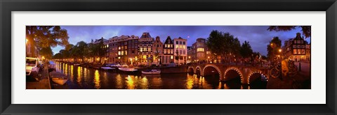 Framed Amsterdam at Dusk, Netherlands Print