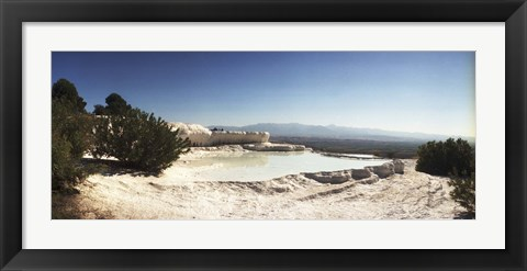 Framed Hot springs and Travertine Pool, Pamukkale, Turkey Print