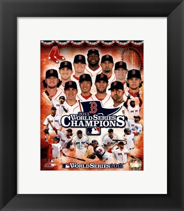 Framed Boston Red Sox 2013 World Series Champions Composite Print