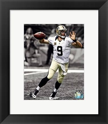Framed Drew Brees 2013 Spotlight Action Print