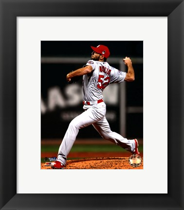 Framed Michael Wacha Game 2 of the 2013 World Series Action Print