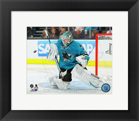 Framed Antti Niemi 2013-14 Action Print