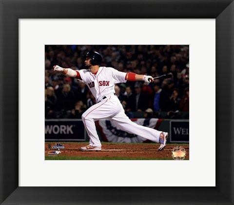 Framed Shane Victorino 3 Run Double 6 of 2013 World Series Print