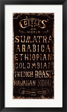 Framed Coffee Print