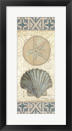 Framed Beach Treasures II Print