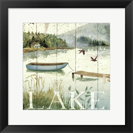 Framed Lakeside II Print