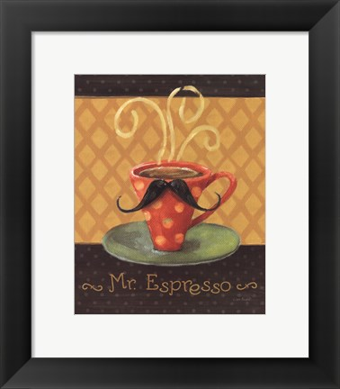 Framed Cafe Moustache III Print