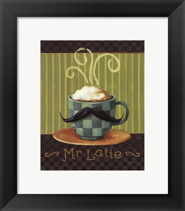 Framed Cafe Moustache VI Print