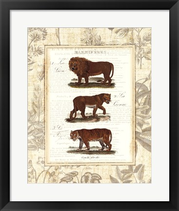 Framed African Animals IV Print
