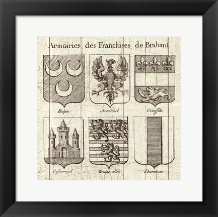 Framed Restoration Period French Armory II Print