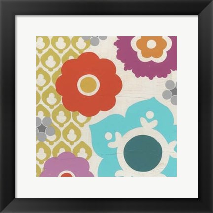 Framed Candy Blossoms III Print